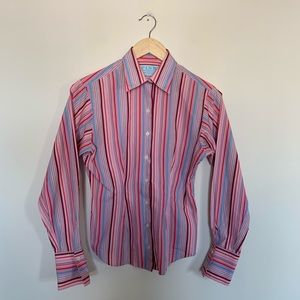Thomas Pink Women's Striped Career Button Up